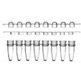 Ultrastrip: barettes de 8 microtubes PCR 0,2ml nat. + cape dôme