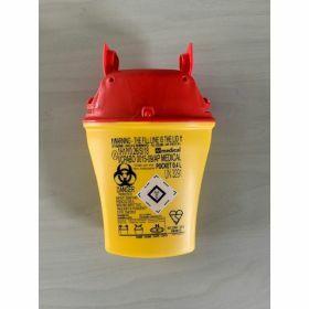conteneur d'aiguilles usagées POCKET 0,4 L -  jaune/rouge