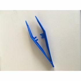 Pince plastique PP 82mm bleue non stérile