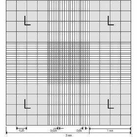 Cellule de numération Neubauer, avec pinces