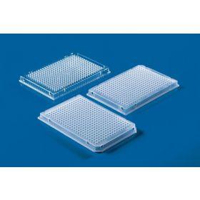 Plaque PCR 384-puits, PP, incolore, cadre complet, 2x coin coupé