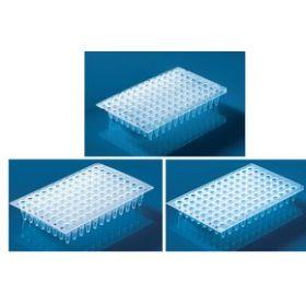 Plaque 96-puits PCR , PP, bord surélevé, incolore