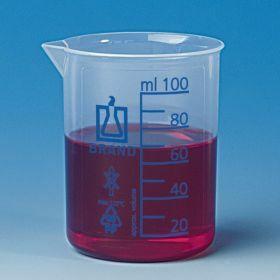 Bécher forme basse Plastibrand, PP 150ml - graduation bleue