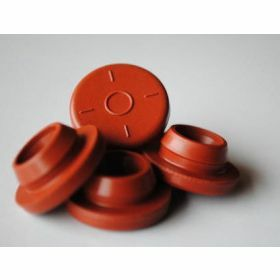 Bouchon septum en butyle rouge D28mm
