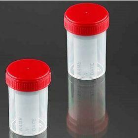 Conteneur 60ml PP cape à vis rouge