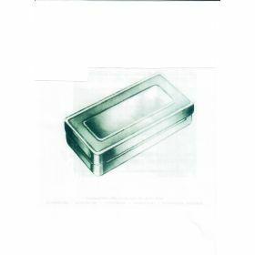 Boîte à instruments en inox 130x60xH40mm