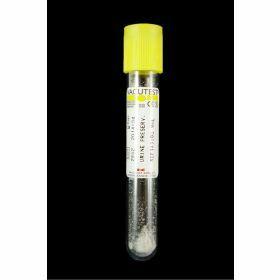 Tube urine fond rond 9ml, bouchon jaune, sous vide, avec acide borique