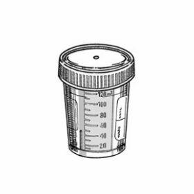 Conteneur 120 ml PP avec cape à vis blanche