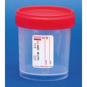 Conteneur 120ml PP cape à vis rouge, STG