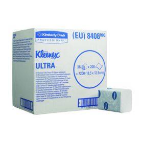 Papier toilette Kleenex Ultra plié, blanc, 2-plis, 18.6 x 12.5cm