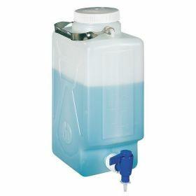 Nalgene™ carboy (bonbonne rectangulaire) PEHD 9L + robinet