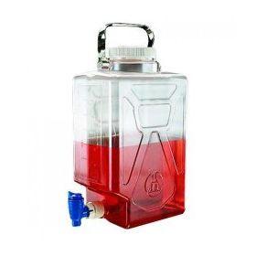 Nalgene™ carboy (bonbonne rectangulaire) PC 9L+ robinet