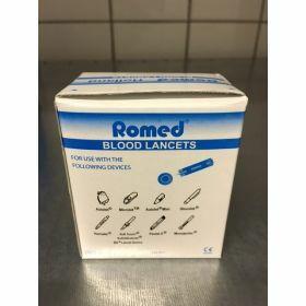 Lancette de sang bleue ROMED