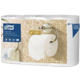 Papier de toil. TORK Prem. Extra Soft 4-plis 150f.