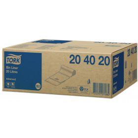 sachet pr.poubelle 18l. 58x30x22cm blanc