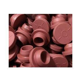 Bouchons butyl rouge pour fioles 20mm