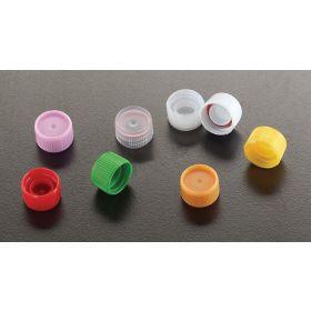 Cape à vis + O-ring pour capinsert, blanc, pour micrewtube