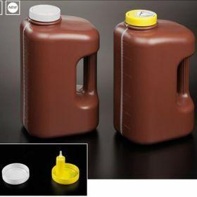 Flacon urines 24h, 3 litres , brun,  pour collection sous vide