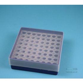 Cryoboite PP Eppi45 130x130 H45mm 8x8 violet