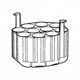 Epp SET: 2 Adaptateurs 10x50ml coniques pour rotor Universal-Large