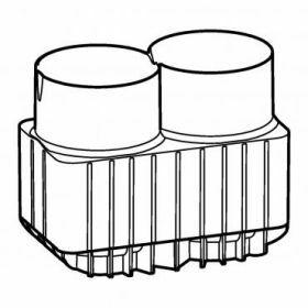 Epp SET: 2 Adaptateurs 2x flacon 250ml et tubes 175-225ml coniques pour rotor Universal-Large