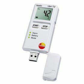 Testo 184-T2 Enregistreur de données USB pour la température avec écran, 150 jours, 70°C
