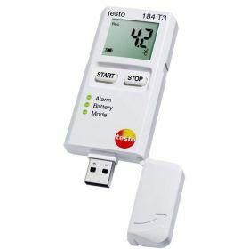 Testo 184-T3 Enregistreur de données USB pour la température avec écran, autonomie illimitée, 70°C