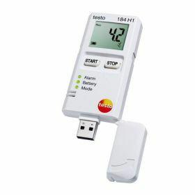 Testo 184-H1 Enregistreur de données USB pour l'humidité et la température avec écran, autonomie illimitée, 70°C