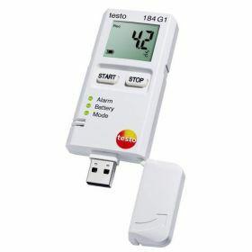Testo 184-G1 Enregistreur de données pour la température, l'humidité et les chocs avec écran, autonomie illimitée, 70°C