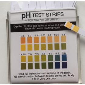 Livret de 100 bandelette Indicateur pH 4,5 -> 9,0 (pH 0,5)