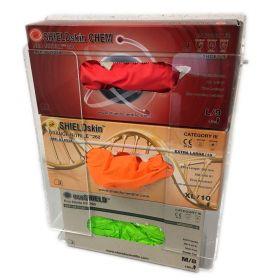 Portoir universel pr. 3 boîtes à gants - PMMA