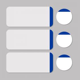 Étiquette blanc/bleu rond D11mm + rectangle 33x13mm 500pcs
