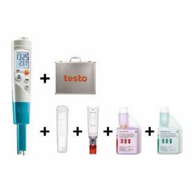 Testo 206-pH1 kit de démarrage - Appareil de mesure du pH et de la température dans les milieux semi-solides, 60°C/14pH