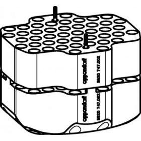 Epp SET: 2 Adaptateurs pour 92 microtubes 1,5/2,0ml pour rotor S-4xUniversal-Large