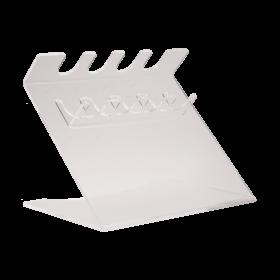Support universel pour 4 pipettes, acrylique blanc