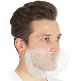 Barbe masque PP non tissé blanc 46cm x 20cm