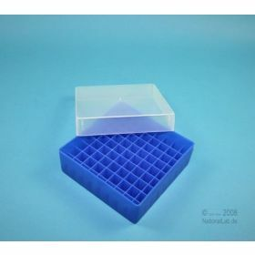Eppi50 cryobox PP 130x130 x 52mm + grid 9x9 neon bleu non alphanumerique
