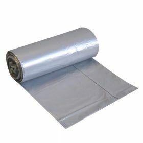 Sac poubelle LDPE 20 pièces en rouleau 60L- gris- 30µm + cordon