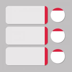 Étiquette blanc/rouge rond D11mm + rectangle 33x13mm 500pcs