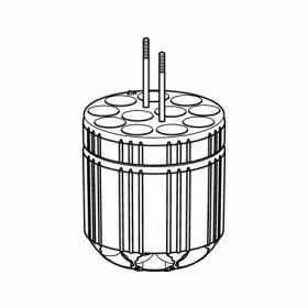 Eppendorf SET: 2 Adapteurs 11x Ø16x115mm (7.5-12ml) pour S-4x400