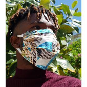 Masque en tissu - DEPESKIDOU floral - adulte - rubans