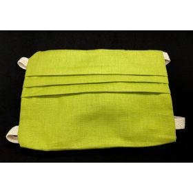 Masque en cotton - vert - adulte M - rubans