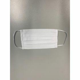 Masque en cotton - blanc - adulte - elastique (oreille)