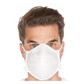Masque jetable FFP2 NR - sans valve - blanc