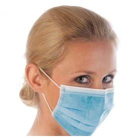 Masque chirurgical 3 plis Type IIR - PP - bleu