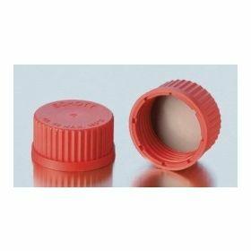 Bouchon à vis rouge Joint PBT + PTFE GL14