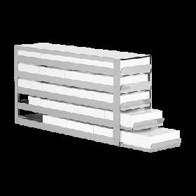 Liebherr Système de rangement en acier inoxydable avec tiroirs 5x4 + cryoboxes