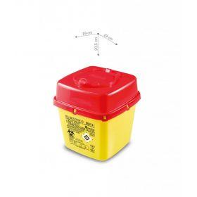 Conteneurs à aiguilles usagées AP Medical, type CS PLUS, carrés, jaune/rouge