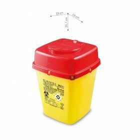 Conteneurs à aiguilles usagées AP Medical type DAILY, carrés, jaune/rouge