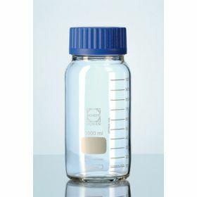 Duran® Flacon de laboratoire à col large avec capuchon à visse bleu GLS80